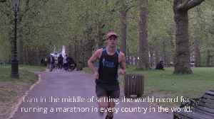 Man on mission to run marathon in every country in the world [Video]