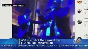 Webster Hall Reopens After Renovation [Video]