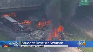 I-70 Fiery Crash: Highway Reopened, Suspect In Custody & Other Drivers Share Stories [Video]