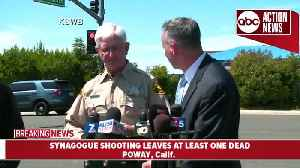 Presser: Shooting at California synagogue leaves at least one dead, three injured [Video]