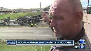 Panhandler helped rescue drivers from I-70 inferno [Video]
