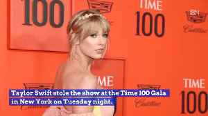 News video: Taylor Swift Steals The Show At Time 100 Gala