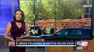 Construction crane falls on vehicles in Seattle, killing two workers and two people in cars [Video]