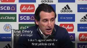 Unai Emery: I don't agree with the first yellow card [Video]