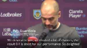 Guardiola delighted to not concede goal at 'most typical England stadium' [Video]