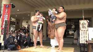 Babies cry and demons fly at bizarre Sumo weeping festival in Japan [Video]