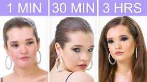 Getting Selena Gomez's Look in 1 Minute, 30 Minutes, and 3 Hours - Makeup Challenge [Video]