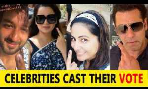 Salman, Hina Khan, Shaheer Sheikh and other celebs cast their vote for Lok Sabha Election 2019 [Video]