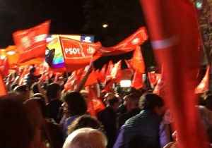 Spanish socialists celebrate election results in Madrid [Video]