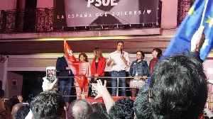 Spanish Socialist Pedro Sanchez thanks supporters in victory speech [Video]