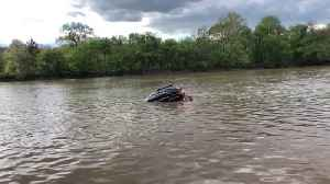 Woman Rescued from Sinking Car [Video]