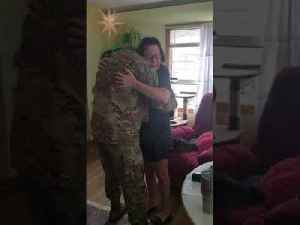 Mom Bursts into Tears at Seeing Soldier Son After Six Months [Video]