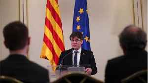 News video: Spain Bars Exiled Ex-Catalan Leader From European Election