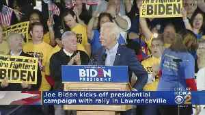 Joe Biden Kicks Off Presidential Campaign With Rally In Lawrenceville [Video]