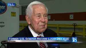 Flags to be flown at half staff to honor Senator Lugar [Video]