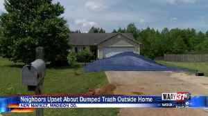 Madison County neighbors upset after trash dumped outside home [Video]
