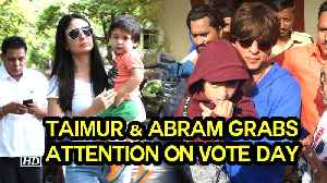 Star Kids Taimur & Abram grabs attention on VOTE DAY [Video]