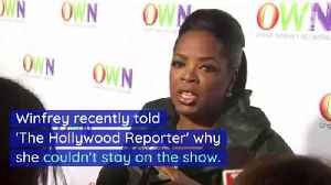 Oprah Winfrey Reveals Why She Left '60 Minutes' [Video]