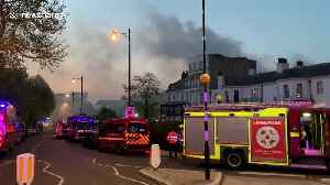 Major fire rips through luxury spa hotel Richmond London - compiled clips [Video]