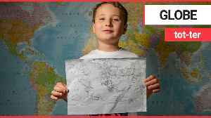 British schoolboy has the genius ability to draw an accurate map of the world in MINUTES [Video]