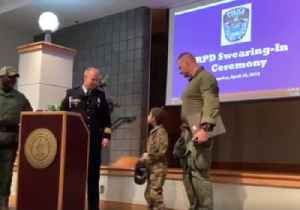 Nine-Year-Old Sworn In as Member of Richmond Police Department SWAT Team for a Day [Video]