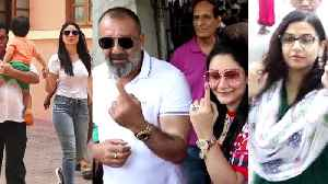 LS Elections 2019: Taimur joins Kareena Kapoor, Bollywood celebs cast their votes [Video]