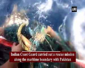 Indian Coast Guard conducts rescue mission to save Olive Ridley Turtle [Video]