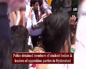 Police detain opposition leaders protesting against Telangana intermediate results [Video]