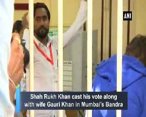 Shah Rukh Khan and Gauri Khan cast their votes in Mumbai [Video]