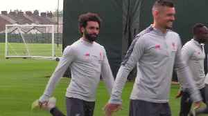 Salah, Mane and Firmino train ahead of Barcelona v Liverpool [Video]