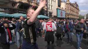Ajax fans take over Leicester Square before Champions League semi-final [Video]