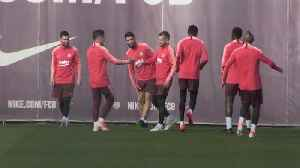 Barcelona train ahead of facing Liverpool in the Champions League semi-final [Video]