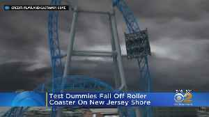 Test Dummies Fall Off Roller Coaster On New Jersey Shore [Video]