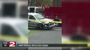 Pickup truck hits lawn mower in Rome, two injured [Video]