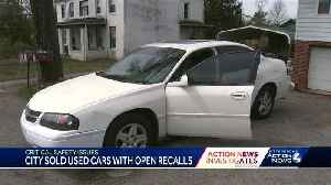 Investigation finds city of Pittsburgh selling cars with open safety recalls [Video]
