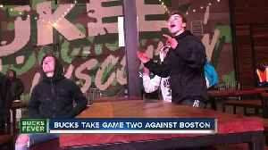 Rain, cold doesn't stop Bucks fans from watching Game 2 [Video]