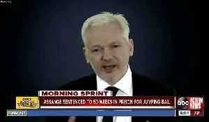 News video: WikiLeaks founder Julian Assange gets almost a year in UK prison for skipping bail