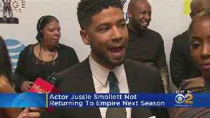 Actor Jussie Smollett Not Returning To Empire Next Season [Video]