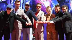 Cast Of Avengers: Endgame Promote Limited Edition Shirts For Charity [Video]