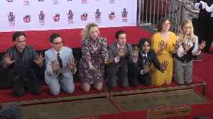 Cast of The Big Bang Theory immortalised in cement outside Hollywood's Chinese theatre [Video]