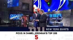 How many players did each team pick from Daniel Jeremiah's top 100? [Video]
