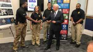 Vice President Pence remarks at Baltimore ICE facility [Video]