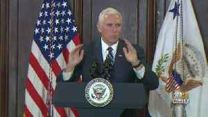 Vice President Pence Makes Second Trip To Baltimore In 3 Months [Video]