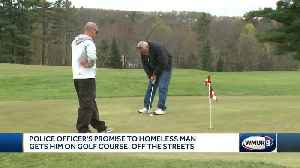 Police officer promises golf game to man if he gets sober [Video]