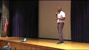 Student athletes learn from pro about positive team culture [Video]