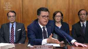 News video: Colbert Barges In On William Barr's Testimony