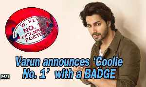 Varun announces 'Coolie No. 1' with a Coolie BADGE | Sara Ali Khan [Video]