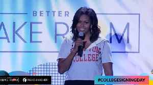 Michelle Obama Fire's Up Thousands Of High School Students on College Signing Day [Video]