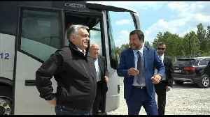 Orban and Salvini inspect Hungary's border fence with Serbia [Video]