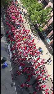 Teachers March Trough Raleigh Calling for Increased Education Funding [Video]